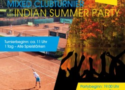 Mixed Clubturnier mit Indian Summer Party